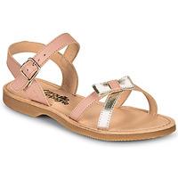 Schoenen Meisjes Sandalen / Open schoenen Citrouille et Compagnie JISCOTTE Roze / Zilver