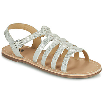 Schoenen Meisjes Sandalen / Open schoenen Citrouille et Compagnie MAYANA Wit / Zilver