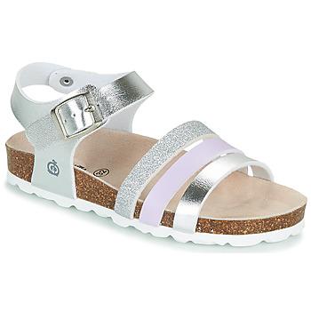Schoenen Meisjes Sandalen / Open schoenen Citrouille et Compagnie OMAYA Zilver