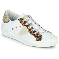 Schoenen Dames Lage sneakers Philippe Model PARIS Wit / Leopard