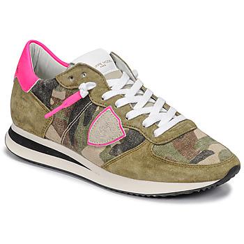 Schoenen Dames Lage sneakers Philippe Model TROPEZ X Camouflage