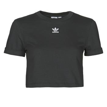 Textiel Dames T-shirts korte mouwen adidas Originals CROP TOP Zwart