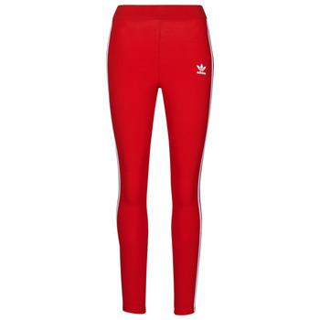 Textiel Dames Leggings adidas Originals 3 STR TIGHT Rood