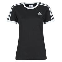 Textiel Dames T-shirts korte mouwen adidas Originals 3 STRIPES TEE Zwart