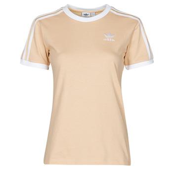 Textiel Dames T-shirts korte mouwen adidas Originals 3 STRIPES TEE Orange