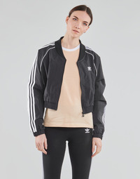 Textiel Dames Trainings jassen adidas Originals SHORT TRACKTOP Zwart