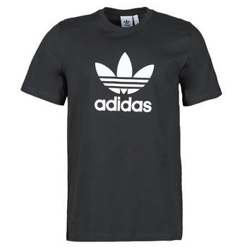 Textiel Heren T-shirts korte mouwen adidas Originals TREFOIL T-SHIRT Zwart