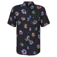 Textiel Heren Overhemden korte mouwen Volcom PLEASURE CRUISE S/S Zwart