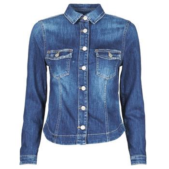 Textiel Dames Spijker jassen Le Temps des Cerises LILLY Blauw
