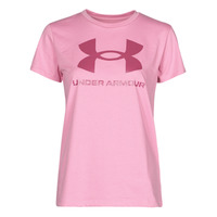 Textiel Dames T-shirts korte mouwen Under Armour LIVE SPORTSTYLE GRAPHIC SSC Roze