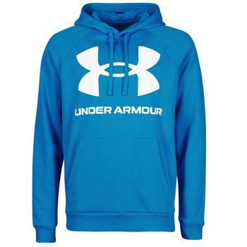 Textiel Heren Sweaters / Sweatshirts Under Armour UA RIVAL FLEECE BIG LOGO HD Blauw
