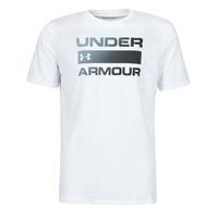 Textiel Heren T-shirts korte mouwen Under Armour UA TEAM ISSUE WORDMARK SS Wit