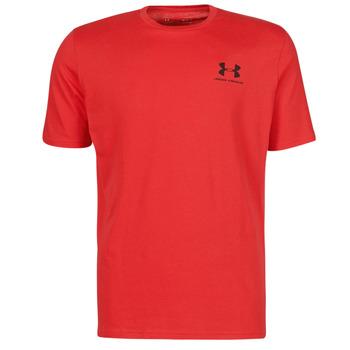 Textiel Heren T-shirts korte mouwen Under Armour UA SPORTSTYLE LC SS Rood