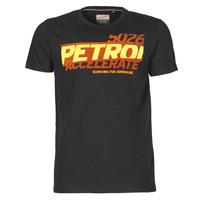 Textiel Heren T-shirts korte mouwen Petrol Industries T-SHIRT SS R-NECK F Zwart