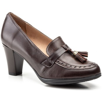 Schoenen Dames pumps Cbp - Conbuenpie Zapatos de piel con tacón by CBP Marron