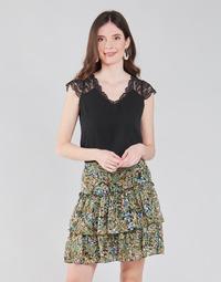 Textiel Dames Tops / Blousjes Naf Naf OROME Zwart