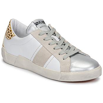 Schoenen Dames Lage sneakers Meline  Wit / Beige