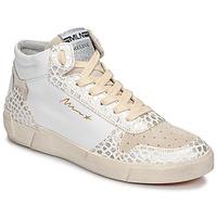 Schoenen Dames Hoge sneakers Meline  Wit / Croc