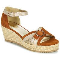 Schoenen Dames Sandalen / Open schoenen Sweet ESTERS Goud /  camel