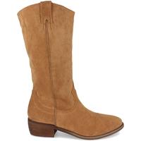 Schoenen Dames Hoge laarzen Buonarotti 1S-0513 Camel