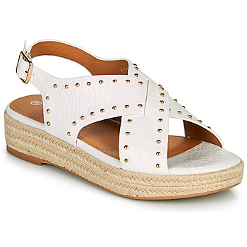Schoenen Dames Sandalen / Open schoenen The Divine Factory LS1802J Wit