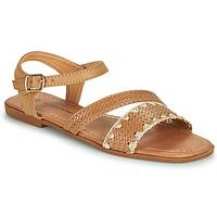Schoenen Dames Sandalen / Open schoenen The Divine Factory TX4339  camel
