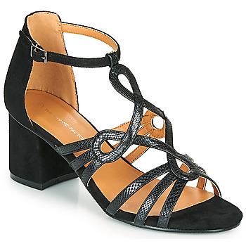 Schoenen Dames Sandalen / Open schoenen The Divine Factory QL4327 Zwart
