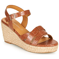 Schoenen Dames Sandalen / Open schoenen The Divine Factory QL4351  camel