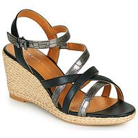 Schoenen Dames Sandalen / Open schoenen The Divine Factory QL4354 Zwart