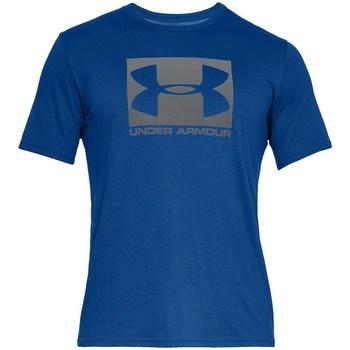 Textiel Heren T-shirts korte mouwen Under Armour Boxed Sportstyle Bleu