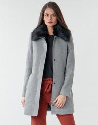 Textiel Dames Mantel jassen Naf Naf AROUSSA Grijs