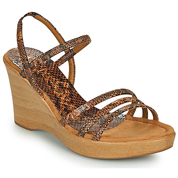 Schoenen Dames Sandalen / Open schoenen Unisa RENERA Brown / Python