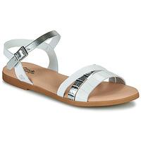 Schoenen Meisjes Sandalen / Open schoenen Citrouille et Compagnie OBINOU Wit / Zilver