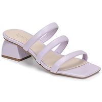 Schoenen Dames Leren slippers Fericelli TIBET Violet