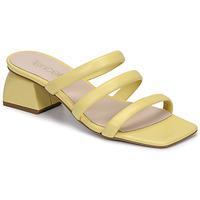 Schoenen Dames Leren slippers Fericelli TIBET Geel