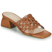 Schoenen Dames Leren slippers Fericelli TELIA  camel