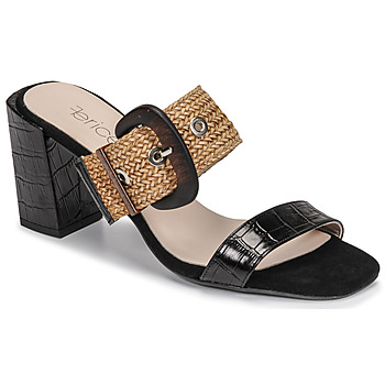 Schoenen Dames Leren slippers Fericelli MARCO Zwart