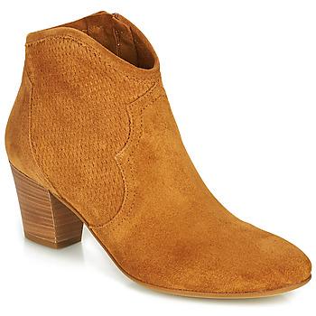 Schoenen Dames Enkellaarzen Fericelli CROSTA Taupe