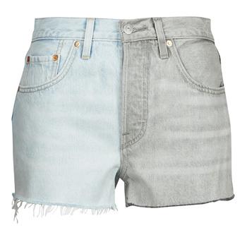 Textiel Dames Korte broeken / Bermuda's Levi's ICE BLOCK Blauw / Grijs