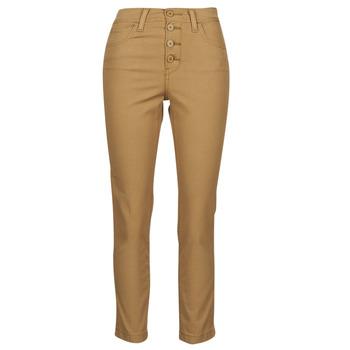 Textiel Dames 5 zakken broeken Levi's SOFT CANVAS TOASTED COCONUT OD Beige
