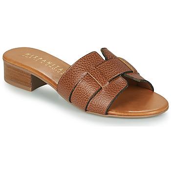 Schoenen Dames Leren slippers Hispanitas LOLA Brown