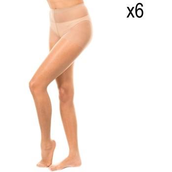 Ondergoed Dames Panty's/Kousen Marie Claire Lot de culottes 15 deniers 6 u. Beige