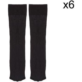 Accessoires Heren Sokken Marie Claire Pack-6 chaussettes de direction Kler Zwart