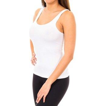 Textiel Dames Mouwloze tops Marie Claire T-shirt sans couture à larges bretelles Wit