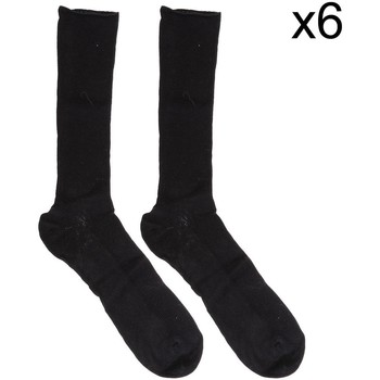 Accessoires Heren Sokken Marie Claire Pack-6 chaussettes Executive sans caoutchouc Zwart