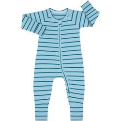 Textiel Kinderen Jumpsuites / Tuinbroeken DIM Barboteuse à manches longues avec fermeture éclair Blauw