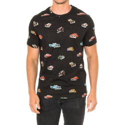 Textiel Heren T-shirts korte mouwen John Frank T-shirt à manches courtes Grijs