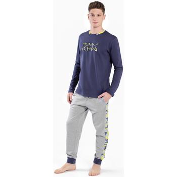 Textiel Heren Pyjama's / nachthemden Munich Pyjama homme Munich Grijs