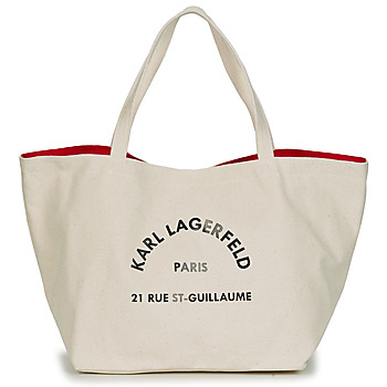 Tassen Dames Tote tassen / Boodschappentassen Karl Lagerfeld RUE ST GUILLAUE CANVAS TOTE Ecru