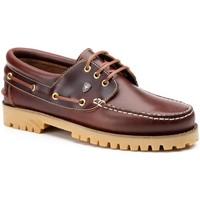 Schoenen Heren Derby & Klassiek Iberico Shoes Zapatos náuticos XL de piel by Ibérico Marron